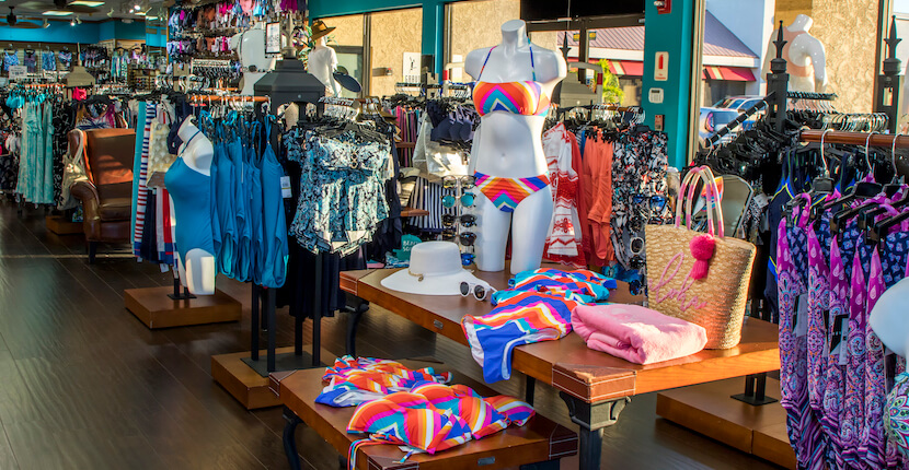 Swim Mart and Swim City best store for men's women's and children's swimsuits, beach coverups, hats, and flip flops Sarasota, Florida USA. Must Do Visitor Guides, MustDo.com