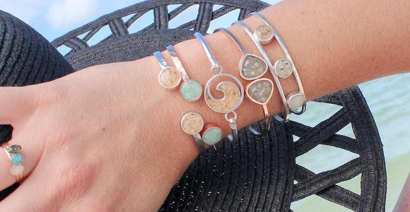 Bracelets and rings from Dune Jewelry Suncatcher's Dream gift shop Sanibel, Florida. Must Do Visitor Guides | MustDo.com