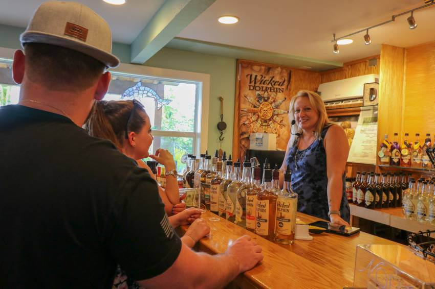Take a free distillery tour that includes tastings of award-winning Wicked Dolphin Rum in Cape Coral, Florida where you'll learn how they cook, ferment, and distill their reserve and signature rums! Photo by Nita Ettinger. Must Do Visitor Guides | MustDo.com