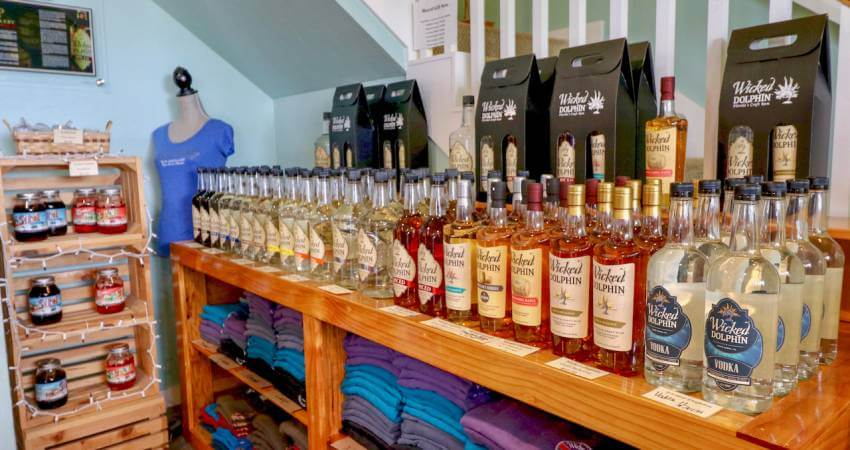 Wicked Dolphin Rumshine. Take a free distillery tour that includes tastings of award-winning Wicked Dolphin Rum in Cape Coral, Florida where you'll learn how they cook, ferment, and distill their reserve and signature rums! Photo by Nita Ettinger. Must Do Visitor Guides   MustDo.com