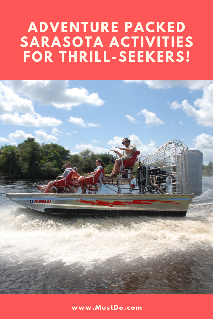 Adventure Packed Sarasota Activities for Thrill-Seekers! Peace River airboat glides across the water.