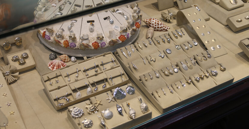 Congress Jewelers on Sanibel offers a beautiful selection of fine jewelry including diamonds, gemstones, Birthshells and Sealife by Congress, an island inspired designer collection available in sterling silver and 14k gold. Photo by Nita Ettinger. Must Do Visitor Guides | MustDo.com
