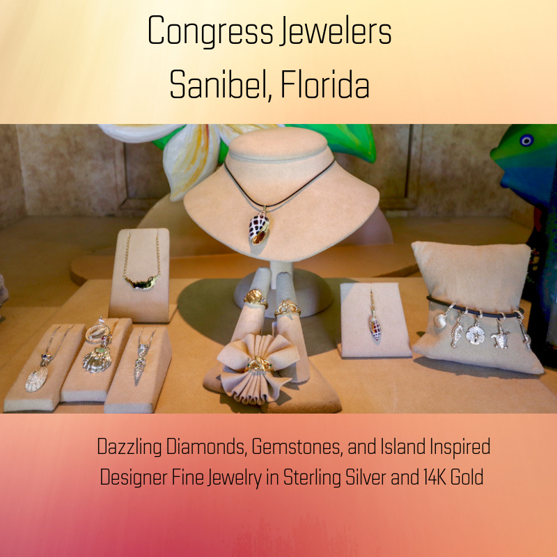 Designer and signature island-inspired fine jewelry paired with personalized service and quality workmanship at Congress Jewelers on Sanibel, Florida.