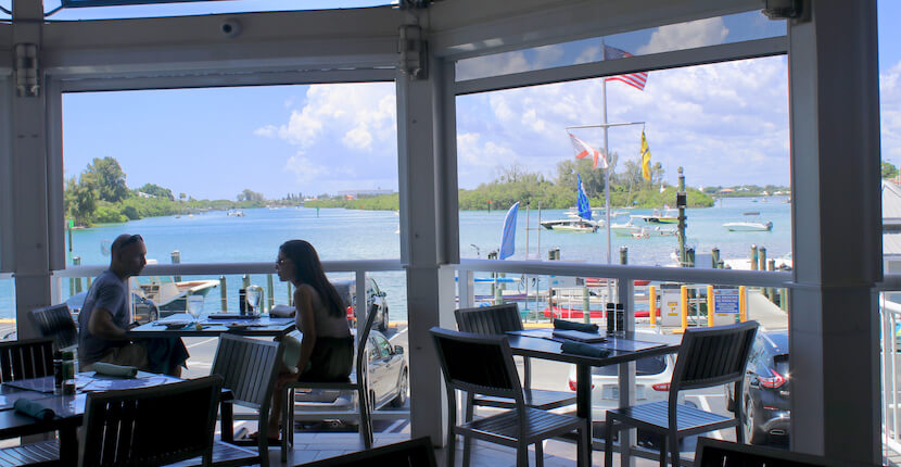 The Crow's Nest waterfront restaurant and bar Venice, Florida. Photo by Nita Ettinger. Must Do Visitor Guides, MustDo.com