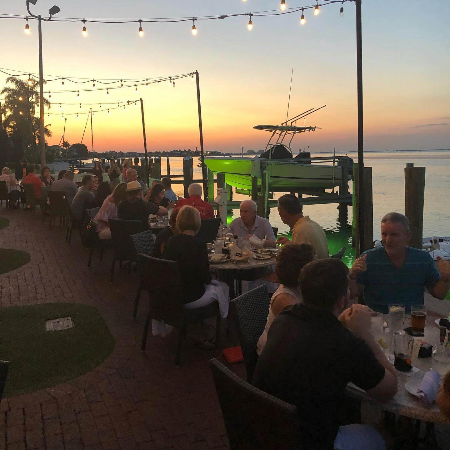 Drydock Waterfront Grill Longboat Key waterfront restaurant and bar Sarasota, Florida.