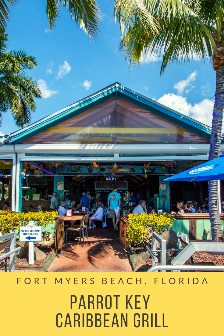 Outdoor dining at Fort Myers Beach, Florida Parrot Key Caribbean Grill casual waterfront bar and restaurant. | MustDo.com