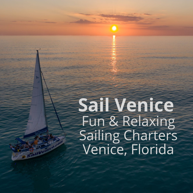 Sail Venice fun & relaxing sailing charters Venice, Florida.