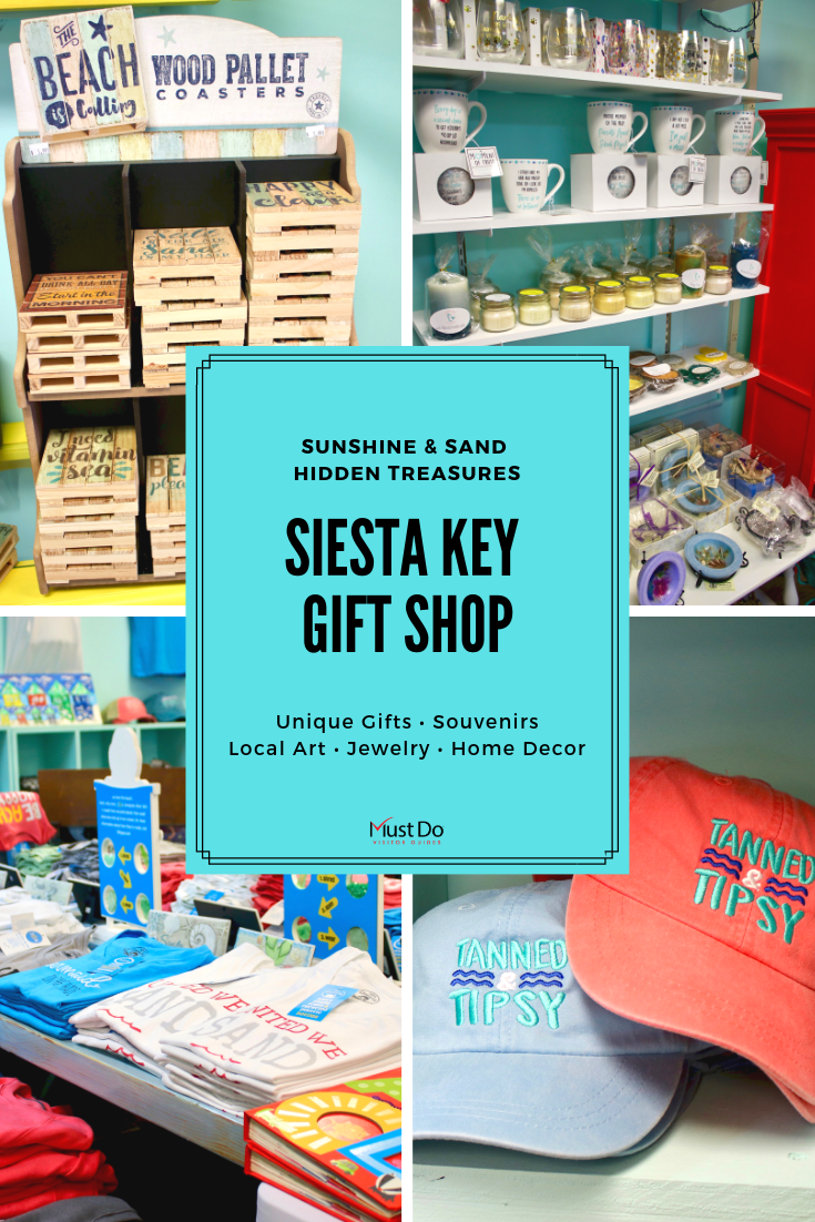 Sunshine & Sand Hidden Treasures Siesta Key Gift Shop. Unique Gifts, Souvenirs, Local Art, Jewelry, Home Decor.
