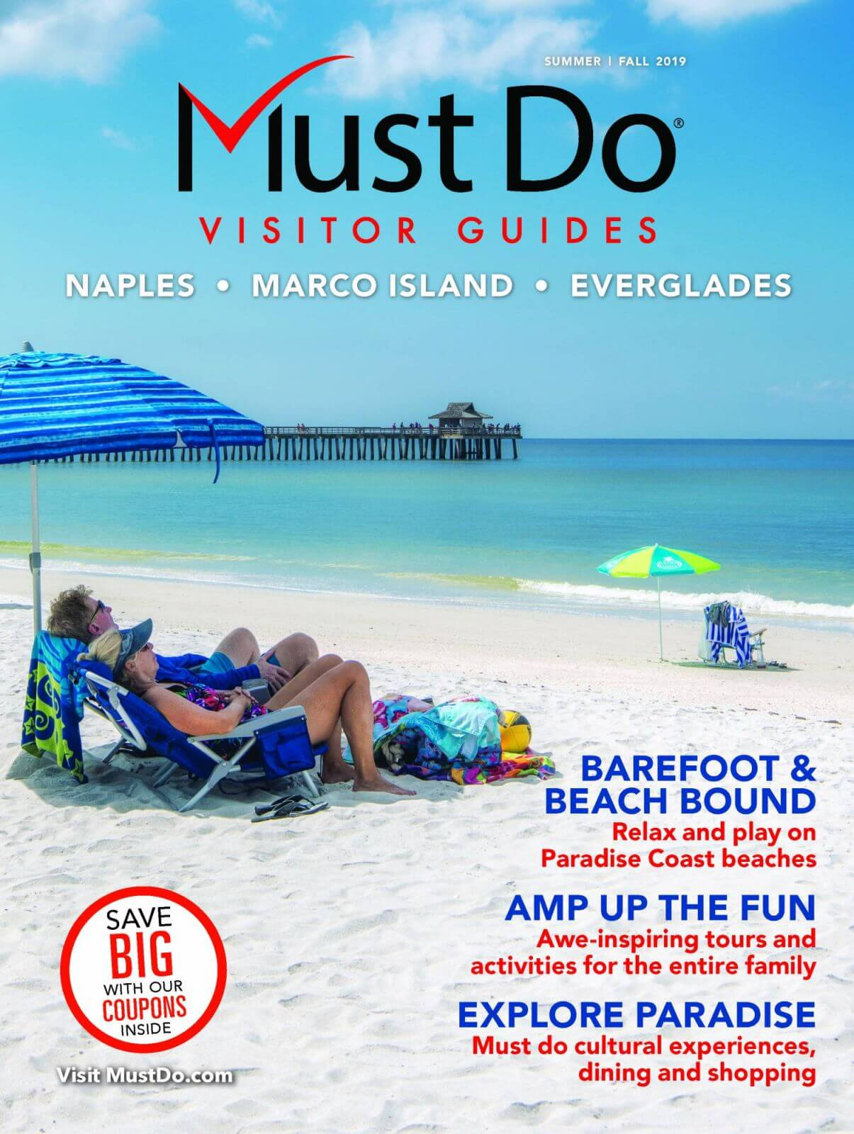 Naples, Marco Island, and Everglades Florida visitor information and things to do on vacation. Read the current issue of Must Do Visitor Guides online at MustDo.com.