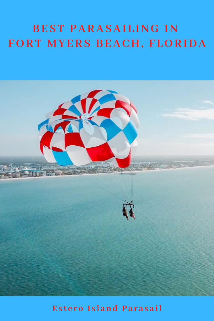 Best Parasailing in Fort Myers Beach, Florida. Make your Fort Myers or Sanibel Island, Florida vacation truly memorable with a thrilling flight over Fort Myers Beach with Estero Island Parasail.