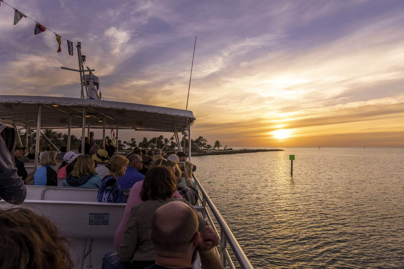 Sunset sightseeing cruise Pure Florida Naples, Florida.