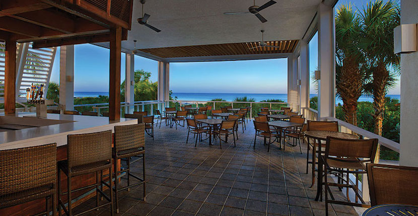 Stilts Beachside Bar & Grill waterfront dining Marco Island, Florida.