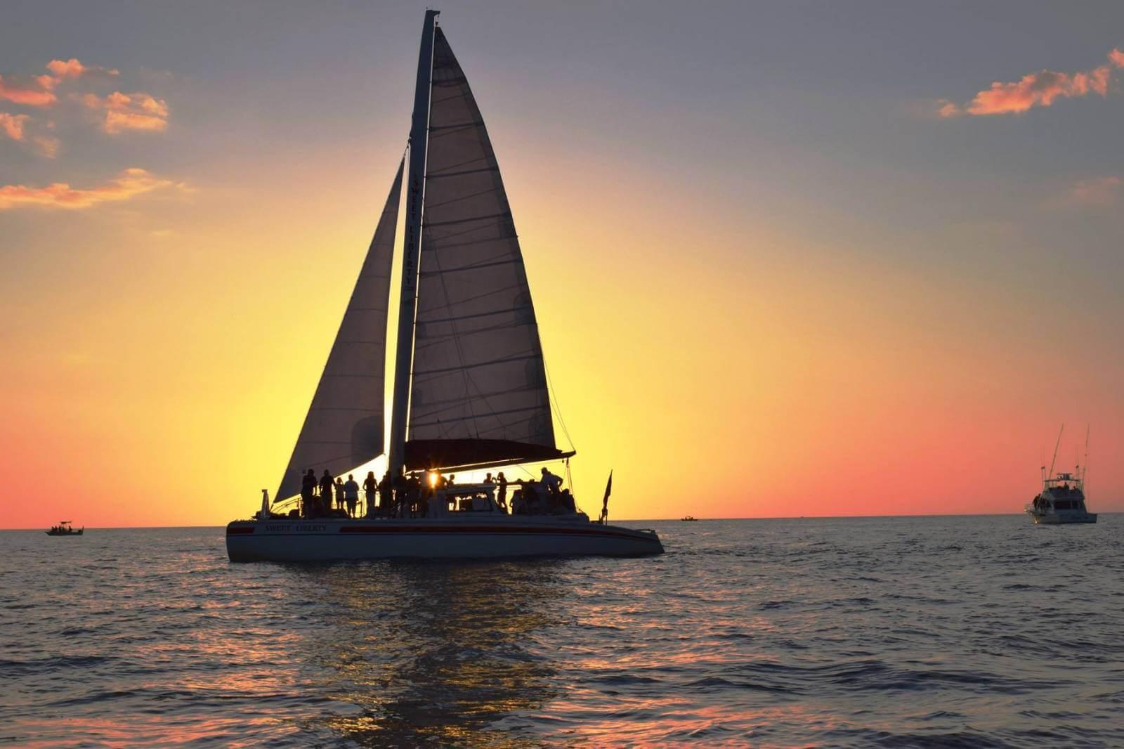 Sweet Liberty Sailing catamaran Naples, Florida sunset cruise.