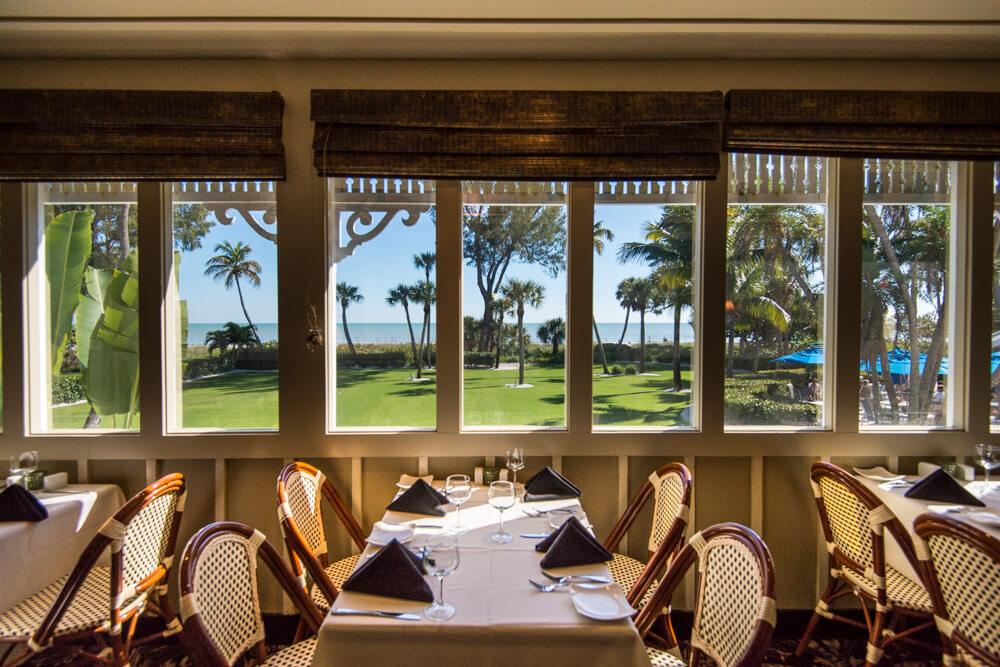 Thistle Lodge Beachfront Restaurant Sanibel Florida waterfront dining.