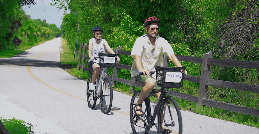 Ride and Paddle will deliver a bike to the Culverhouse Nature Park Legacy Trail trailhead, then simply call when you've completed your ride and they will pick it up on the rack where you found it. This full-day bike rental includes a lock, helmet, and basket. MustDo.com