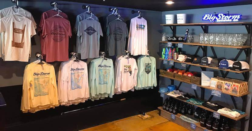 Big Storm Brewery craft beer bar and tasting room merchandise Cape Coral, Florida.