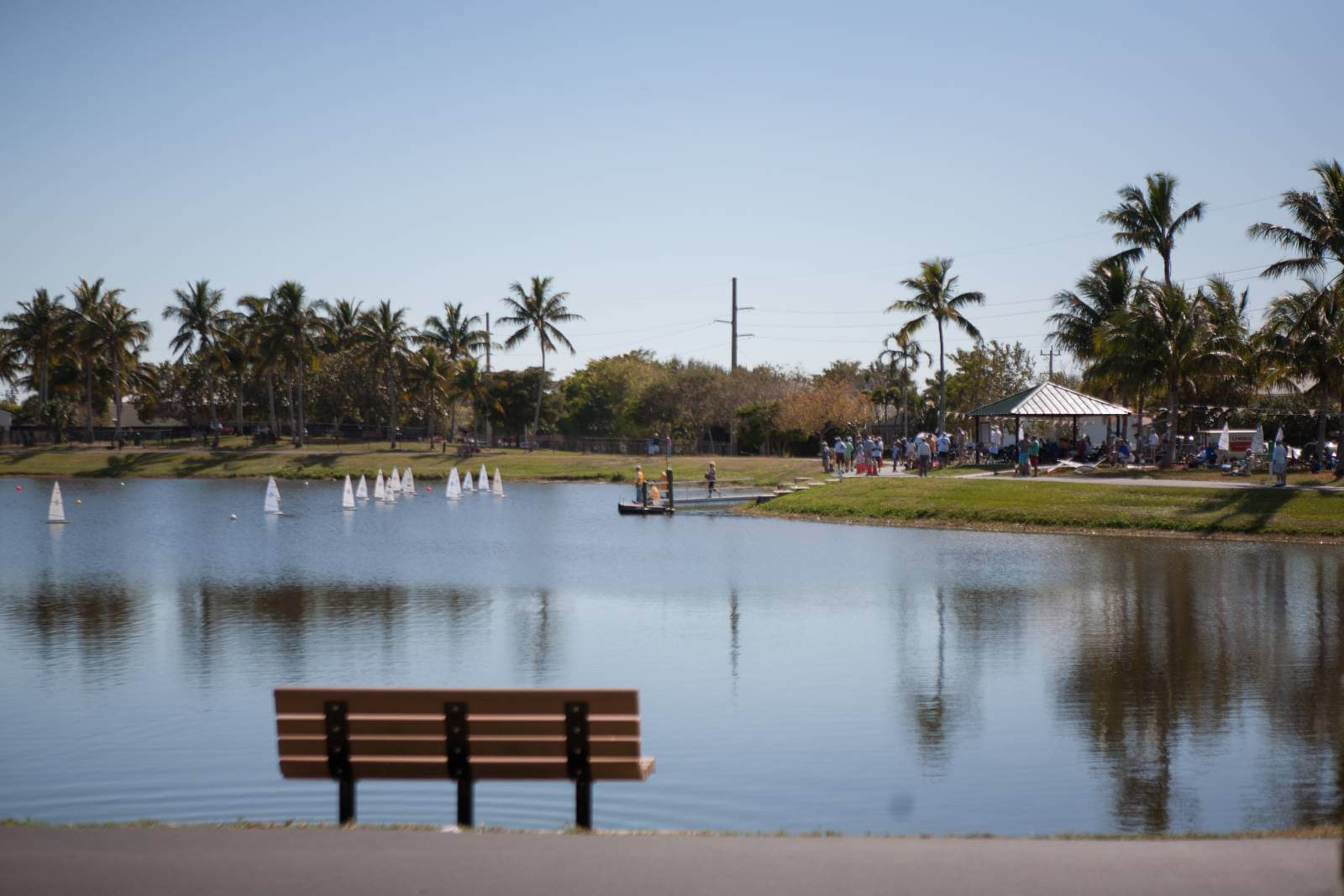 Lake at Mackle Park on Marco Island, Florida.