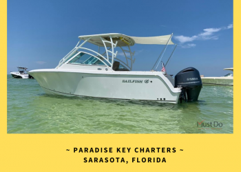 Charter your own boat with captain and enjoy a day out with family and friends while on vacation in Siesta Key, Lido Key, or Sarasota, Florida.