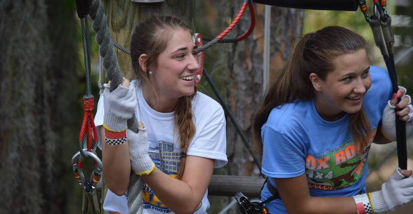 TreeUmph! Southwest Florida's first treetop adventure park with obstacle course and zipline. Test your skills on wobbly bridges, swinging from ropes, or take a ride along a 650-foot-long ZIP line. Sarasota, Florida activities. Must Do Visitor Guides, MustDo.com.
