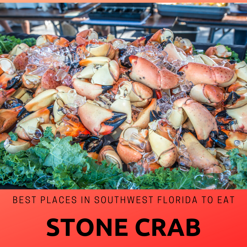 Best Places in Southwest Florida to eat Stone Crab. Photo credit Jennifer Brinkman. Must Do Visitor Guides.