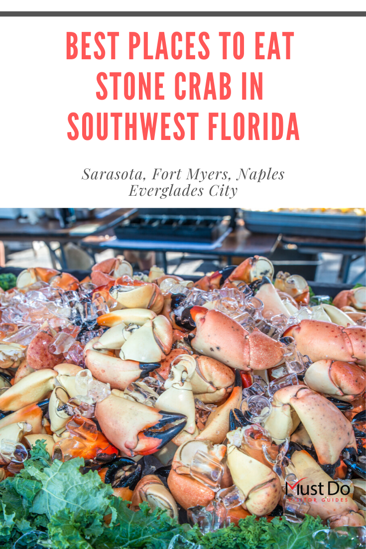 Best Places to eat Stone Crab in Southwest Florida including Sarasota, Fort Myers, Naples and Everglades City. Must Do Visitor Guides | MustDo.com