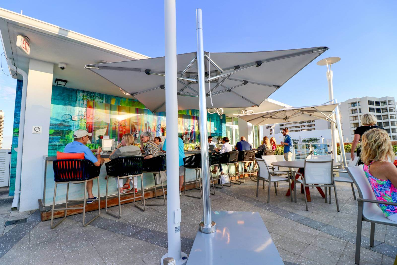 Rooftop bar at Art Ovation Hotel downtown Sarasota, Florida. Photo by Laurén Ettinger. Must Do Visitor Guides | MustDo.com