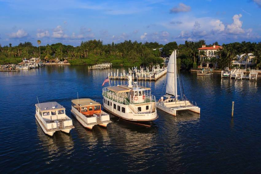 Captiva Cruises fleet of tour boats for cruises in Fort Myers, Captiva and Sanibel Island, Florida