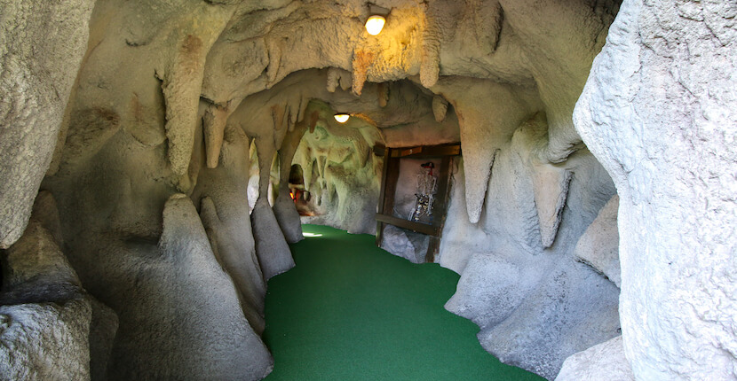 Cave Smuggler's Cover Adventure Golf in Fort Myers and Sarasota, Florida is a fun mini golf course for kids and adults. Photo by Laurén Ettinger. Must Do Visitor Guides | MustDo.com