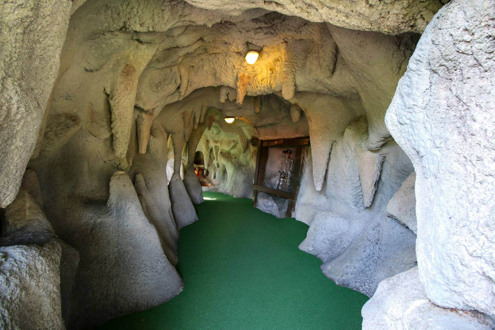 Cave at Smuggler's Cover Adventure Golf in Fort Myers and Sarasota, Florida is a fun mini golf course for kids and adults. Photo by Laurén Ettinger. Must Do Visitor Guides | MustDo.com