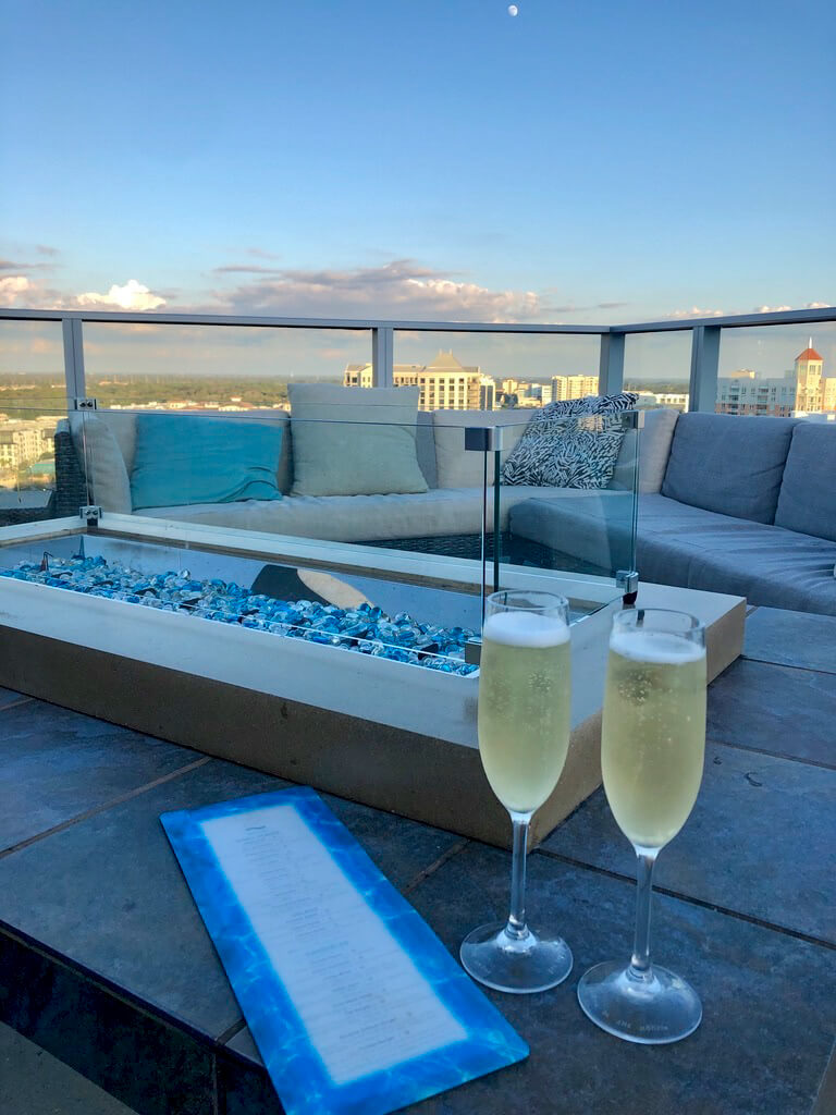 Rooftop bar at Westin Sarasota downtown hotel. Photo by Laurén Ettinger. Must Do Visitor Guides | MustDo.com