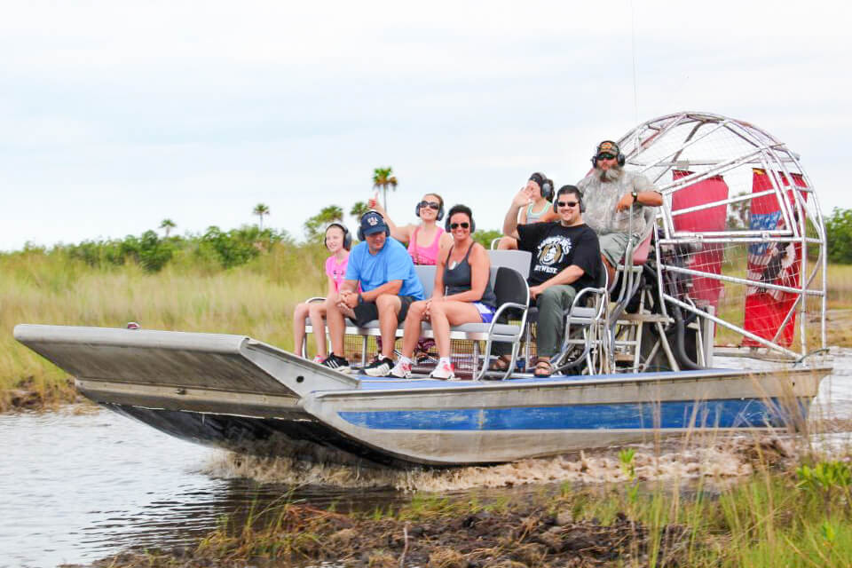 Wooten's Everglade Airboat Tours of the Florida Everglades launch just minutes from Marco Island, Florida.
