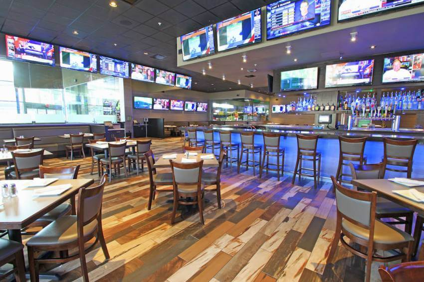 Sports Bar and Restaurant at GameTime Fort Myers family entertainment center in Fort Myers, Florida.
