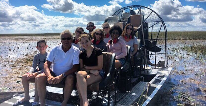 Group airboat ride in Florida Everglades with Everglades Swamp Tours near Naples and Marco Island.