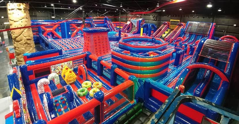 Jumpin' Fun Inflata Park Sarasota, Florida. A 15,000-square-foot inflatable indoor park with a plethora of adventurous and challenging activities for kids of all ages as well as adults - beer & wine too!