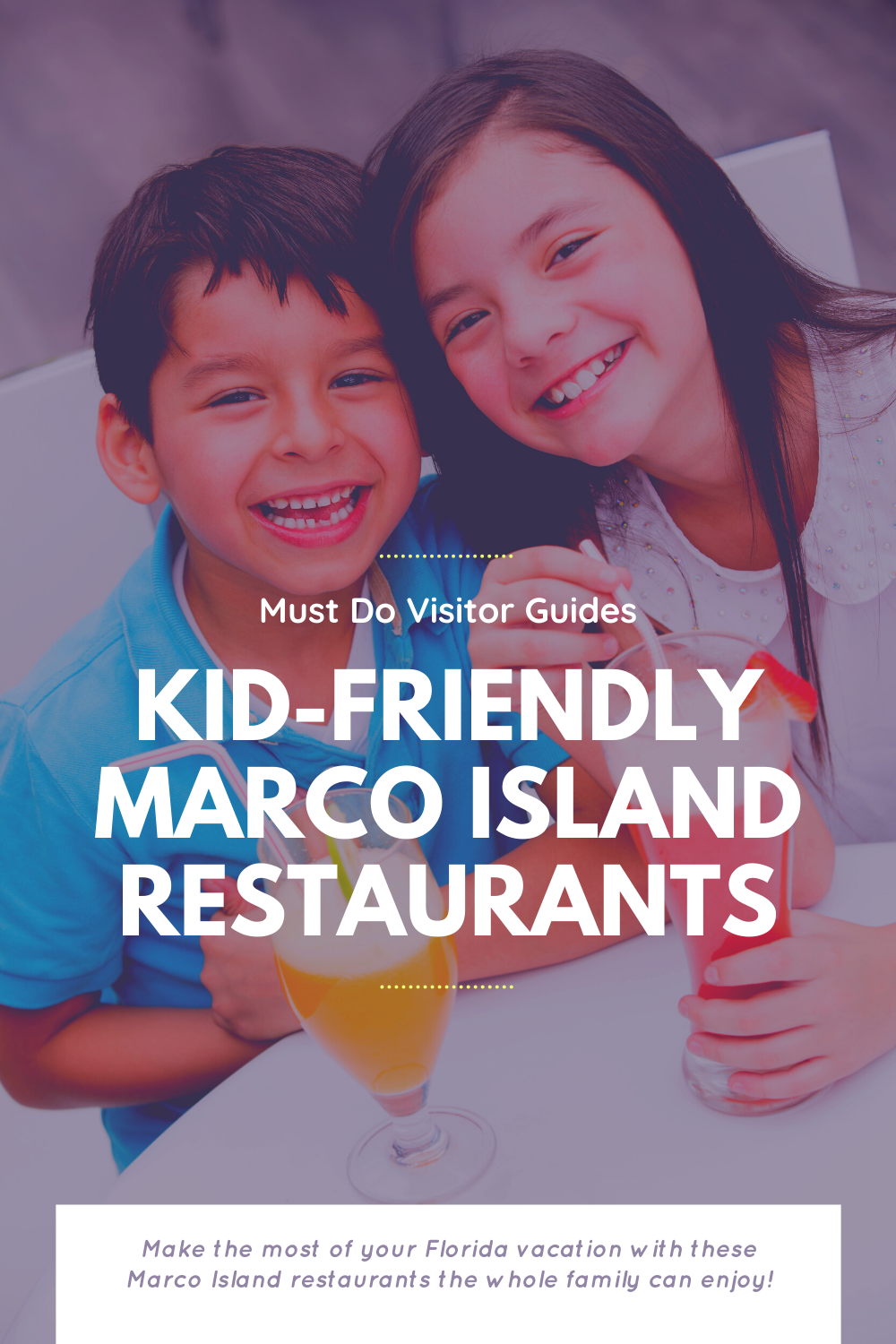 Must Do Visitor Guides Kid-Friendly Marco Island Restaurants. Make the most of your Florida vacation with these Marco Island Restaurants the whole family can enjoy!