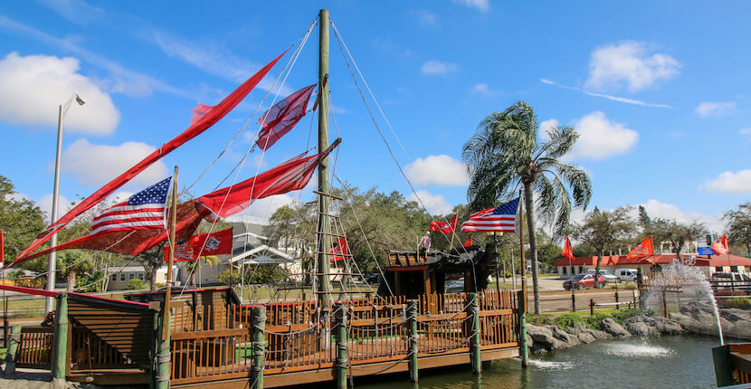 Pirate ship Smuggler's Cover Adventure Golf in Fort Myers and Sarasota, Florida is a fun mini golf course for kids and adults. Photo by Laurén Ettinger. Must Do Visitor Guides | MustDo.com