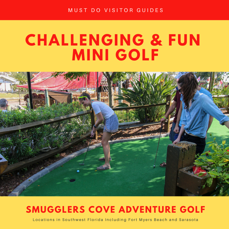 Smuggler's Cove Adventure Golf in Fort Myers and Sarasota, Florida is a fun mini golf course for kids and adults. Photo by Laurén Ettinger. Must Do Visitor Guides | MustDo.com