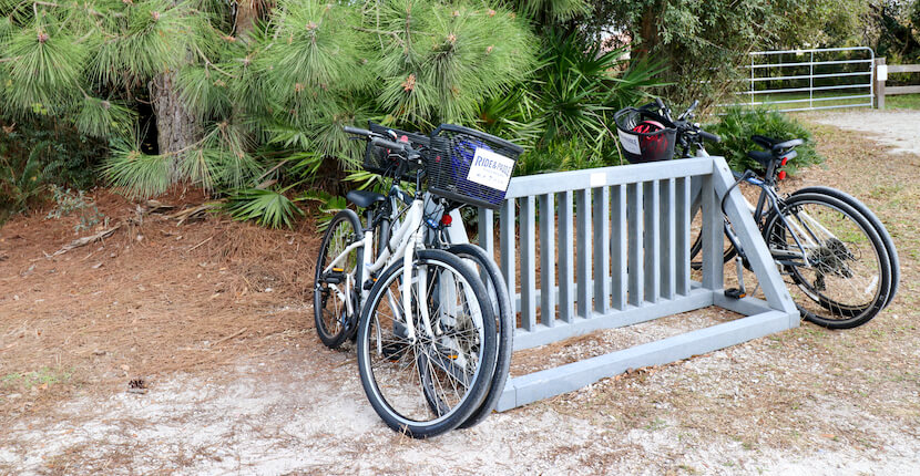Ride and Paddle bike rentals on The Legacy Trail paved multi-use recreational trail for biking, hiking in Sarasota and Venice, Florida. Photo by Nita Ettinger. Must Do Visitor Guides | MustDo.com