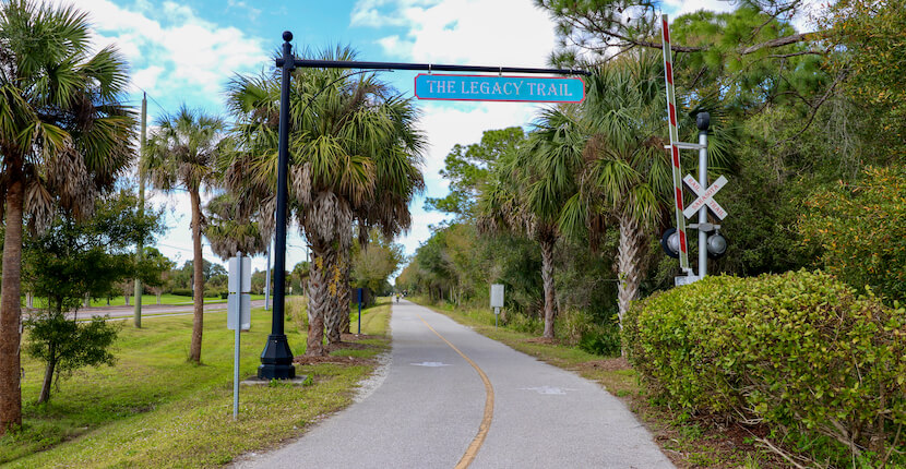 The Legacy Trail paved multi-use recreational trail for biking, hiking in Sarasota and Venice, Florida. Photo by Nita Ettinger. Must Do Visitor Guides | MustDo.com