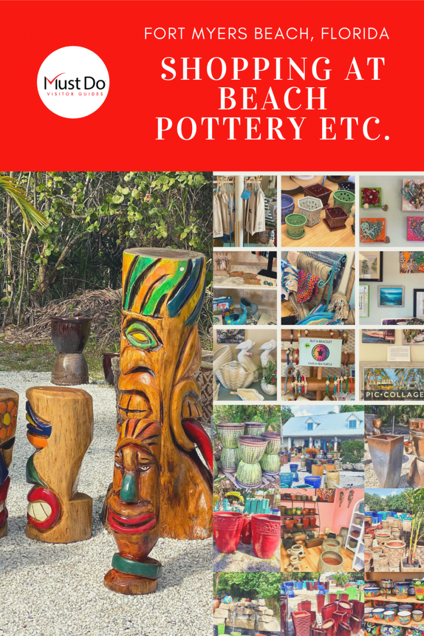 Shopping at Beach Pottery Etc. in Fort Myers Beach, Florida | Must Do Visitor Guides