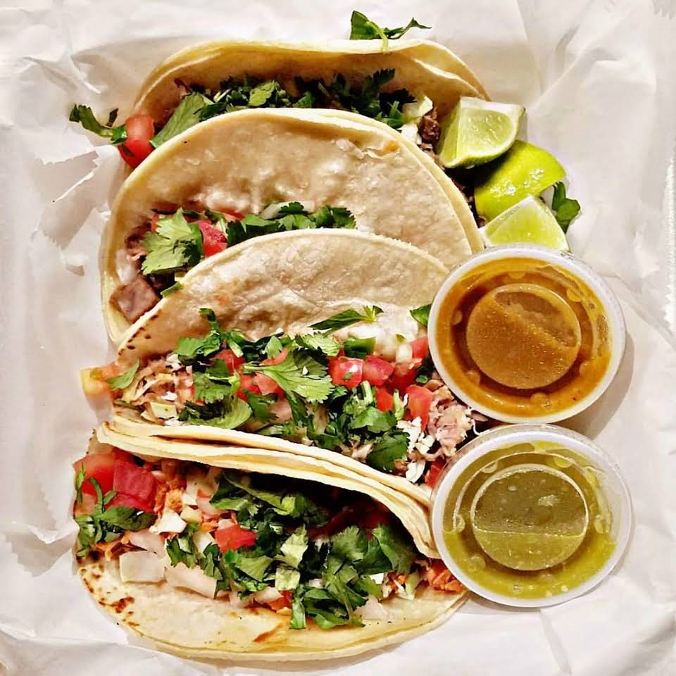 Cheap Eats in Sarasota - Tacos from Manny's Tacos To-Go food truck in Sarasota, Florida. Must Do Visitor Guides | MustDo.com