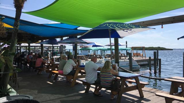 Cheap Eats - Dining dockside at Star Fish Company in Cortez, Florida. Must Do Visitor Guides | MustDo.com