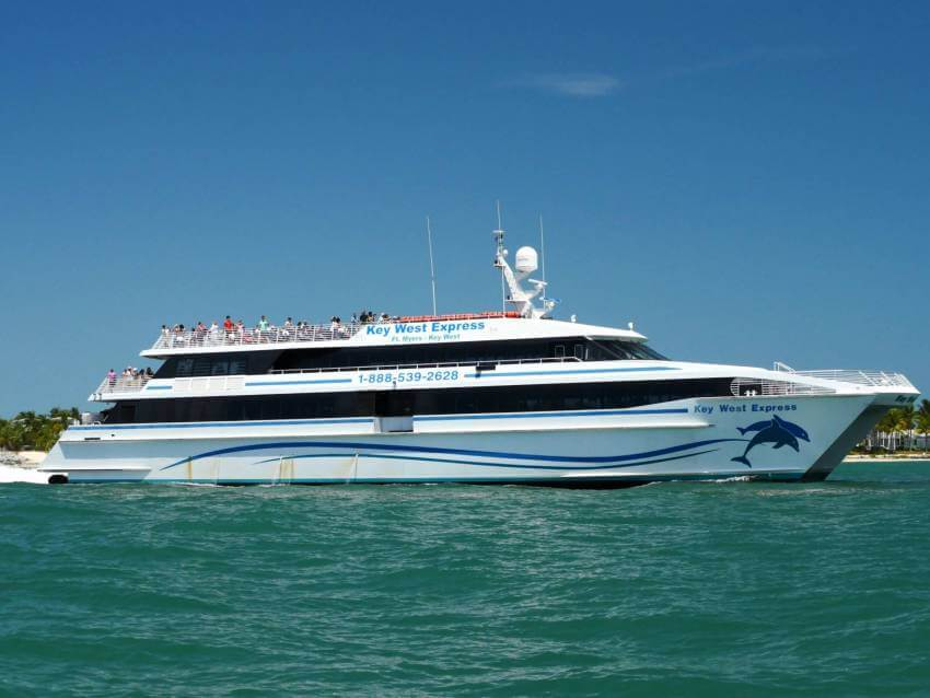 The Key West Express ferry boat from Fort Myers Beach and Marco Island, Florida to Key West with daily departures year-round.