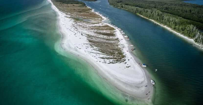 Keywaydin Island is an 8-mile long barrier island located between Naples and Marco Island, Florida and is part of the pristine Rookery Bay Reserve.