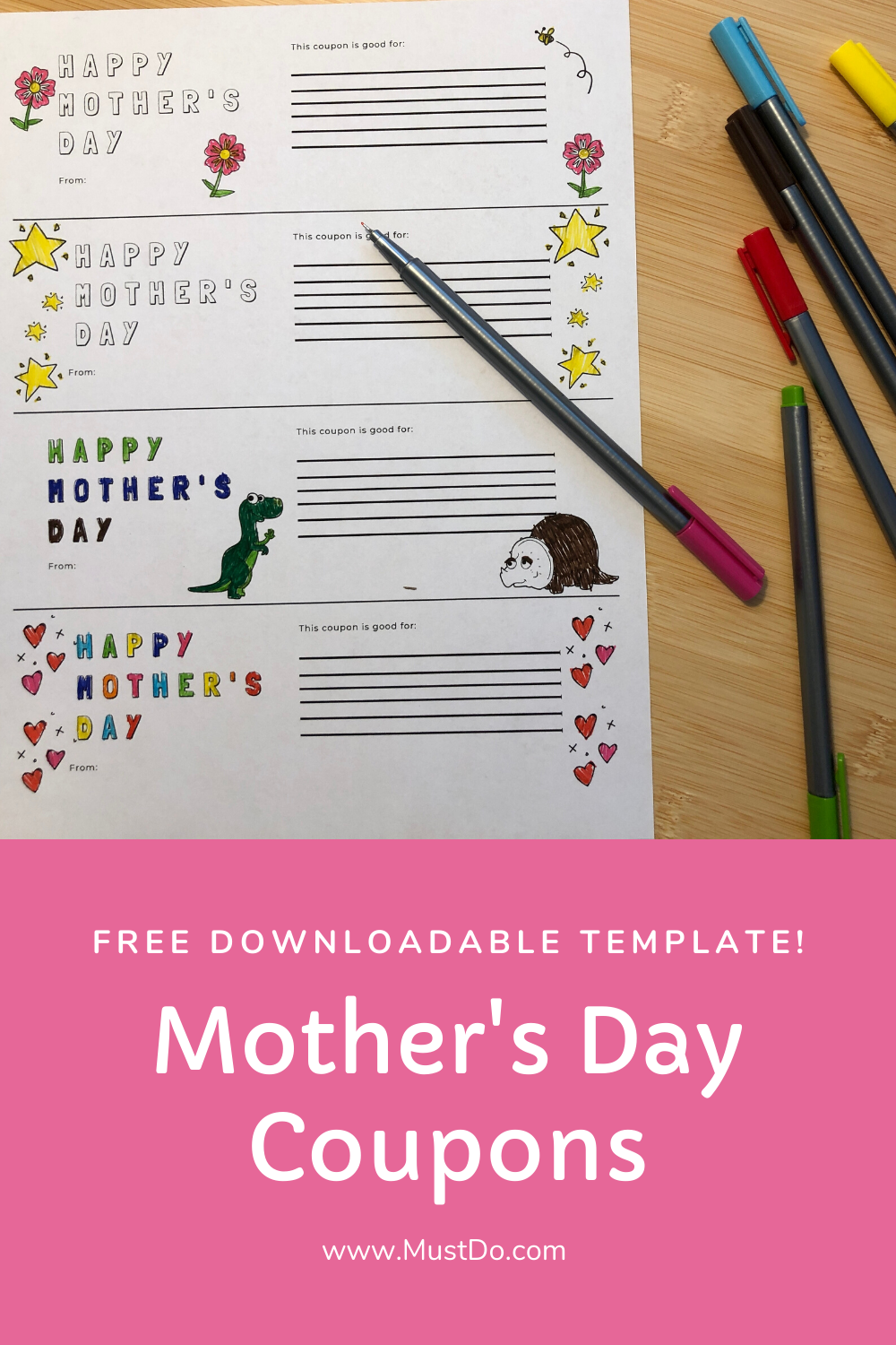 Free Downloadable Template! Mother's Day Coupons | www.MustDo.com