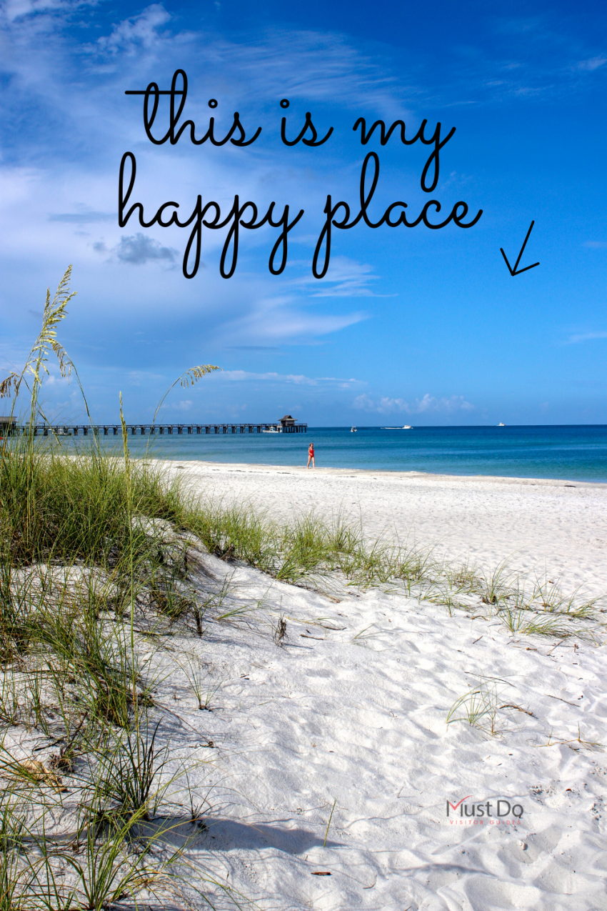 This is my happy place. Florida white sand beach, and blue sky over the Gulf of Mexico. Must Do Visitor Guides | MustDo.com