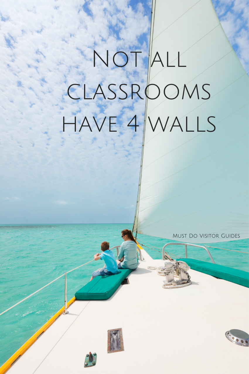 Not all classrooms have 4 walls. Must Do Visitor Guides | MustDo.com