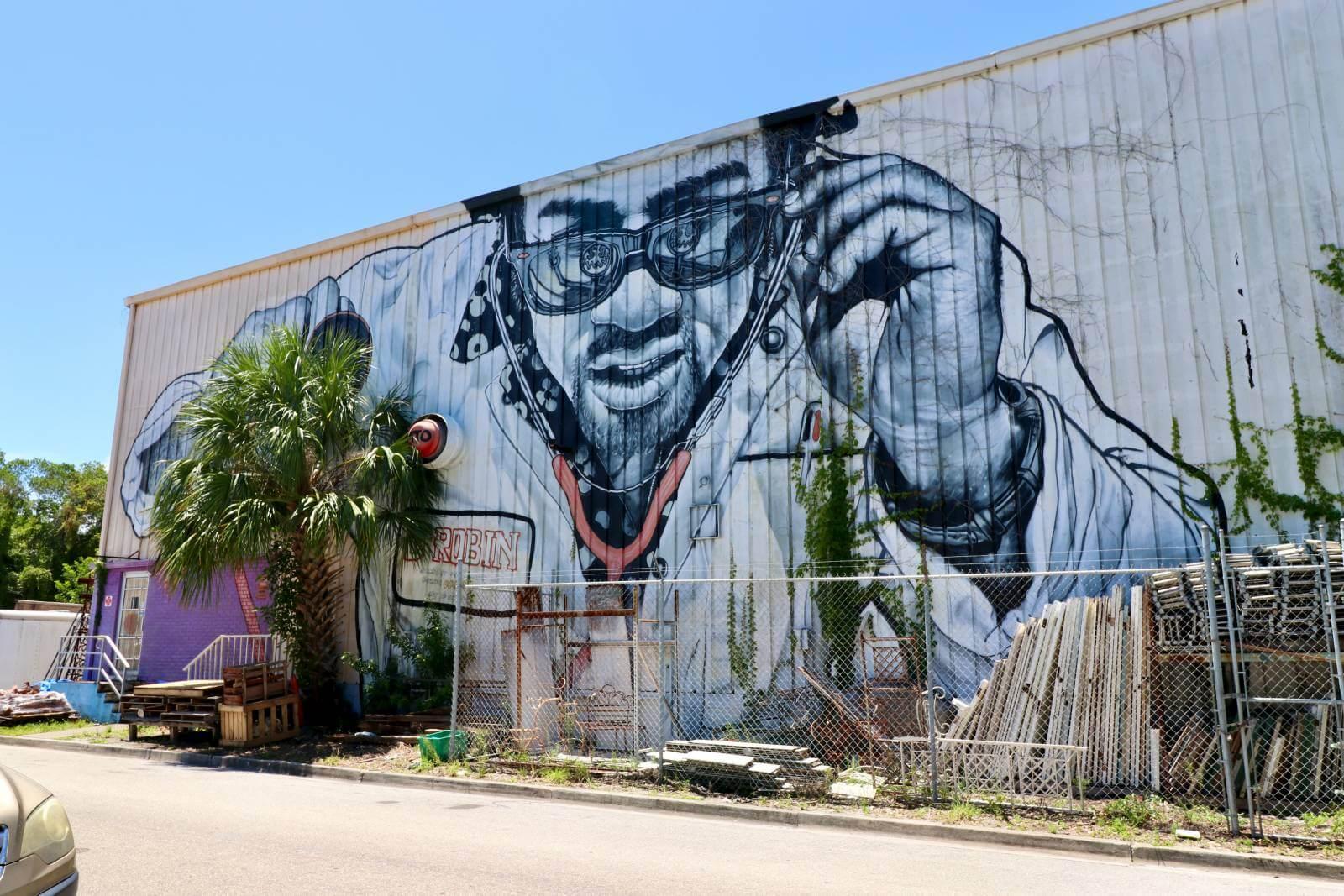 Mateo aka MTO street art in Sarasota, Florida street art and murals. Photo credit Nita Ettinger. Must Do Visitor Guides | MustDo.com