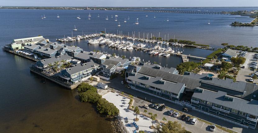 Fishermen's Village Resort, Shopping, Marina, and Vacation Villa Rentals in Punta Gorda, Florida.