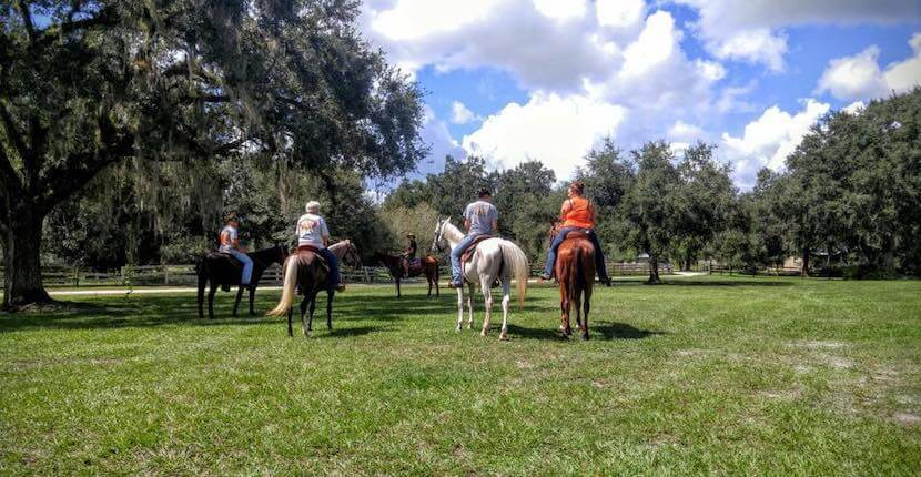 Peace River Charters horseback riding trail tours near Sarasota in Arcadia, Florida.
